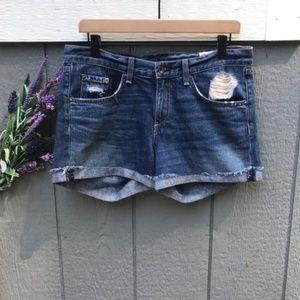 Rag & Bone- Distressed jean shorts